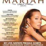 RT @LiveNationOzNz: .@mariahcarey to bring The Elusive Chanteuse Show World Tour to Australia & New Zealand: http://t.co/HAdvZaSFWf