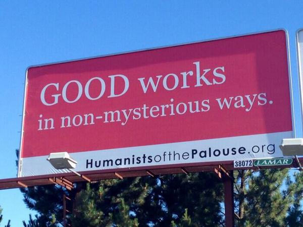 ✩✩✩ LOVE This!!!! RT @MyOpenMind101: Good works in non-mysterious ways..... #SecularHumanism http://t.co/bUJzEPad8L