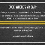 RT @sussexdowns: Sussex Downs College is pleased to support #WorldCarFreeDay http://t.co/mkEUiIy0J1