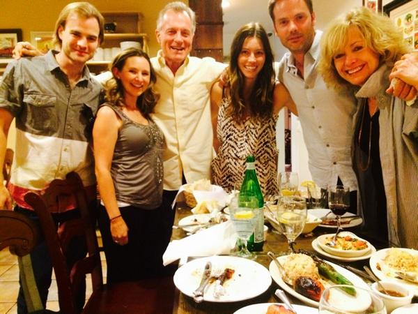 1st time in 8 yrs Joy, laughs! Dave,Preg @beverleymitchel,me, @JessicaBiel,@realBarryWatson, Cath. No @mack_smack http://t.co/IuU2Jaw3Tr