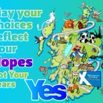 RT @bravemany: Be Brave. May your vote reflect your Hopes, not your fears. #indyref #scotland http://t.co/i4nXHzmKiy