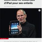 RT @leditiondusoir: Steve Jobs a inventé liPad mais il ne voulait pas que ses enfants lutilisent... A lire ici http://t.co/FJAYC7wotz http://t.co/SKoIrfD3sj