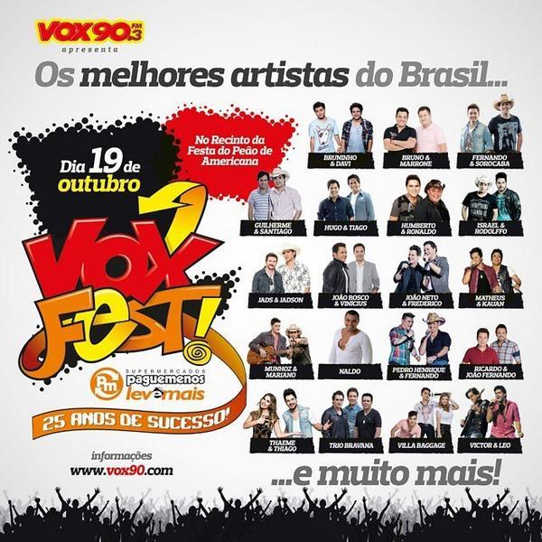 Por que o #VoxFest #PagueMenos será o melhor show de rádio do Brasil? De uma olhada e diga você mesmo!!! http://t.co/NgKvPNvzeY