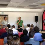#NantesDigitalWeek, inauguration @greenlabcenter au #HubCreatic #Nantes avec @atlanpole @clergeau @KarineDanielNts http://t.co/nFtsboEsHR