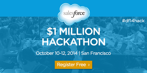Hackers, start your engines. The Salesforce $1 Million Hackathon is back! http://t.co/VydKEOwcVV #df14hack http://t.co/QFsmmvk83Z