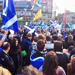 RT @DavidGalavants: Hi World, This is Glasgow, Scotland, calling. Just to say, SOMETHING EXTRAORDINARY IS HAPPENING! #IndyRef #Yes http://t.co/mmBUe38clR