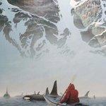 Remando entre orcas. Alaska. http://t.co/HW8X15pSly