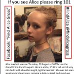 RT @CuddlyCat2: @ProudCamden Help find Alice Gross 14 missing from #Hanwell #London 3 weeks please RT & help #FindAlice #Camden http://t.co/Q7OGGlwHgH