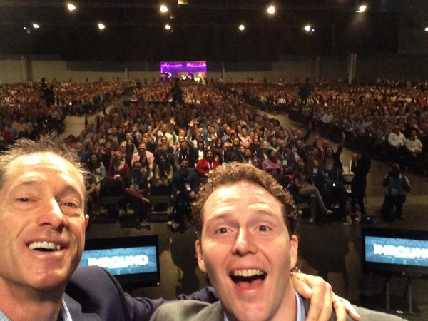 Epic selfie with @dansally and 10,000 of our best friends at #INBOUND14 http://t.co/hc4XZ2U8f9