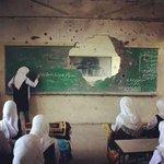 """عدنا إلى مدرستنا رغم الدمار"" ""we went back to our school despite the destruction"" - #Palestine #Gaza #غزة http://t.co/vIStF1amBF"