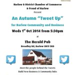 """RT @ian_beckett: #HarlowHour @harlowchamber & @ProudofHarlow present """"An Autumn #TweetUp"""" - Weds 1st Oct, 5:30pm at @theherald195 http://t.co/sOD6a4cZUk"""