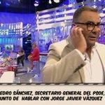 "RT @RubenFdezAviles: Pedro @sanchezcastejon hablando en ""Sálvame"" con Jorge Javier Vázquez. El @PSOE ha perdido el rumbo definitivamente. http://t.co/UkIdBmqxrI"