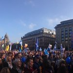 Getting busier and busier. Hard to estimate numbers. Tommy Sheridan speech next #Indyref #Yes #Yes #Yes http://t.co/AIqU7fmWgd