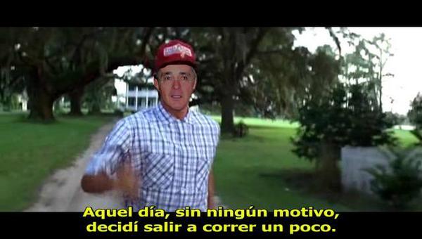 WikiLiss (@lisspereira): Dicen que ya están haciendo película del escape de Uribe.. acá va el Spoiler de una escena #CorreUribeCorre http://t.co/PaE4EjnltP