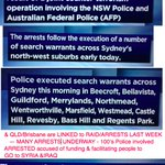 Watching @ABCNews24 AFP & NSW Police Updates on anit-terror Raids in Sydney & Brisbane linked to last weeks AFP... http://t.co/W4fhHKbzqO