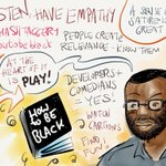 """""""A sense of satire is great"""" - @baratunde #socialshakeup #WhatsYourStory http://t.co/1mPqKrxph5"""