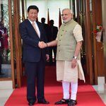RT @narendramodi: Welcoming President Xi Jinping. http://t.co/RbRHAnvn0w