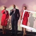 .@kwanzahall announces @Virgin_Atlantic comes to #ATL! #socialshakeup #HelloAtlanta http://t.co/QuQ47qDG2B