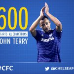 Congratulations to John Terry, who tonight makes his 600th start for @chelseafc! #CFC http://t.co/0PdPvKMBXh
