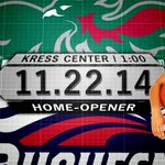 This years HOME-OPENER will be against Duquesne on Nov. 22 at 1 p.m.! Lets pack the Kress with green! #HLWBB http://t.co/6JRiegD13H