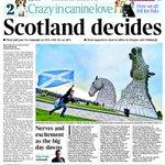 """RT @annabosch: Escocia día D. Portada del Times """"@suttonnick: Thursdays Times front page - """"Scotland decides"""" #indyref http://t.co/EOHARvrZC5"""""""