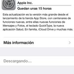 Enserio? 15h para acutualizar el #iOS8 ? Que pena por dios ???? Espero que merezca la pena esta espera porque no veas... http://t.co/qlIgYMJ1f1