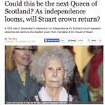 RT @jimbardett: Al loro a quien sería la candidata al trono de Escocia si renuncia a la corona británica: http://t.co/SKeCBnH7nV http://t.co/nSWppHtwuF