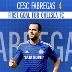 A first @chelseafc goal for @cesc4official!!!! #CFCLive http://t.co/1F0VIPcgnd
