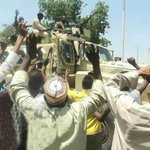 Featd: Victorious Nigerian Troops being cheered after killing hundreds of Boko Haram members in battle - @iamtenseven http://t.co/YPBIM7NLLM