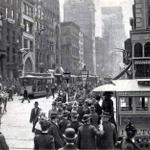 RT @NewYorkologist: Trolley Cars on Lower Broadway, New York City, 1899   #NYC #NY http://t.co/vwW5bFk8rO