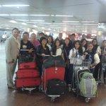 """Primer grupo de la Promoción 2014 """"Hiram Edson"""" del Colegio Adventista """"JSM"""" de Trujillo llegando a Sao Paulo, BR. http://t.co/UxUdU42rtF"""