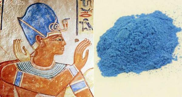 """Egyptian Blue. RT""""@Machezm: The Oldest Known Artificial Pigmente (blue) #Egypt http://t.co/gUrlB0XXop http://t.co/JWrOLx2J5e"""""""