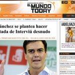 RT @Famelica_legion: ¿Pedro Sánchez en portada Interviú? @elmundotoday #PedroSanchezEH Sálvame http://t.co/IBOpDjs6mC