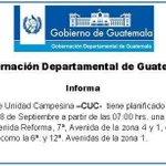 RT @prensa_libre: Manifestación para mañana jueves en la capital, inicia a las 7 horas en el Obelisco, zona 9, finaliza en zona 1. http://t.co/4UlXo9FFv5