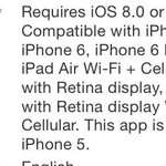 This app is not compatible with iPhone 5, but it is optimized for iPhone 5.