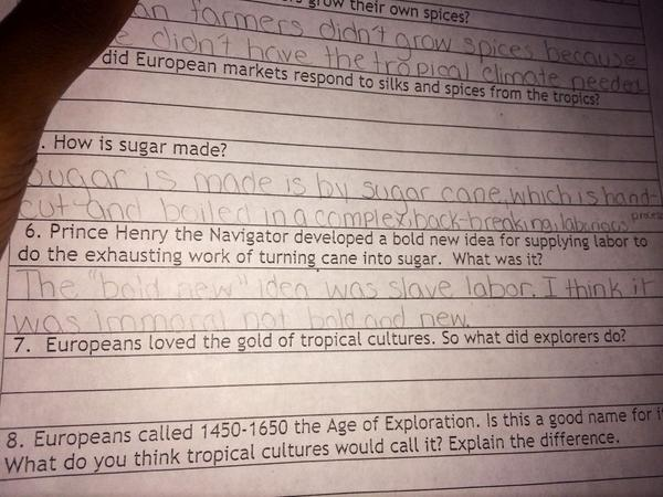 """""""@Leci_83: My son's homework just pissed me off. His answer made me proud, though. Read #6. http://t.co/0Ld3xm99nt"""" insight right on"""