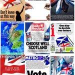 RT @druizancares: Pedazo de portadas de los periódicos británicos con motivo del referéndum en Escocia (vía @suttonnick y @furillo_) http://t.co/21v2cwsFi0