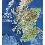 Brillante RT@guerraypaz: Muy buena portada de @guardian : Day of Destiny, con azul y blanco, colores de Escocia. http://t.co/myKoVoUL9l