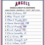 Tonight's #Angels lineup with the clinch in sight. http://t.co/M6NXytau4J
