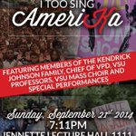 """""""@FieryNupes: Collaborating with @VSU_NAACP @VSU_BSL & College Democrats for #ITooSingAmeriKa THIS SUNDAY AT 7:11! http://t.co/9UbXmu2aL4"""""""