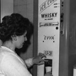 A whiskey vending machine shown at the Second Automatic Vending Exhibition in London, 1960 (via LIFE) http://t.co/ubpcEqiSFg