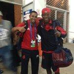 Ya estamos en el estadio nacional Mateo Flores #VamosRojos @TheChampions http://t.co/tEWO0vd3v6