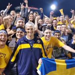 .@PresLovell stops by the @MUbirdcage for a picture at halftime of @marquettesoccer #MilwaukeeCup #WeAreMarquette http://t.co/r6qn3nPjdy