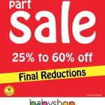 Buy More, Spend Less! Part Sale - FINAL Reductions at #Babyshop #Hatta! Hurry! T&C Apply. #UAE #BackToSchool http://t.co/AJoQiSyi4q