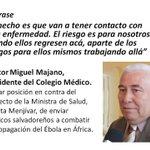 #LaFrase Presidente del Colegio Médico en contra del envío de médicos salvadoreños a combatir el ébola en Africa http://t.co/K05i5yNVxF