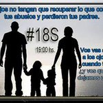 RT @Valeriasol26: Por favor Rt #18SVamosTodos #18SArgentinazo !Vamos Todos #Basta de Inseguridad #18S Hoy 19:00hs Marcha http://t.co/YqO7GOdePE