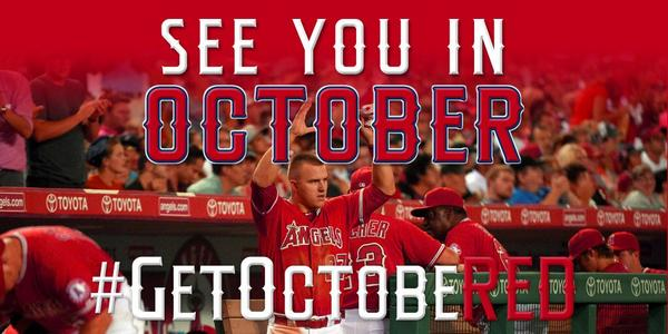 Your #Angels are the 2014 American League West Division Champions!! #GetOctobeRED #WeOwnTheWest http://t.co/YOAScENuJb