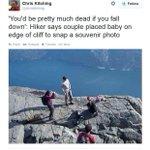 """@g1: Casal fotografa bebê engatinhando na borda de precipício e é criticado http://t.co/sGCk0SlSff #G1 http://t.co/denXYllRE4"" CRAZYY"
