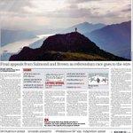 La tapa de hoy del diario escocés The Herald (el que diseñó el aviso al pie de página es un maestro). http://t.co/mztGfMIcYH
