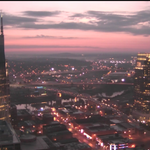 Some showers in SW Middle TN this morning, but a beautiful sunrise in Nashville! http://t.co/MfboTJjfNs